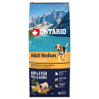 Ontario Adult Medium - Food for adult dogs over 10 kg. with 7 types of fish and rice 12 kg.