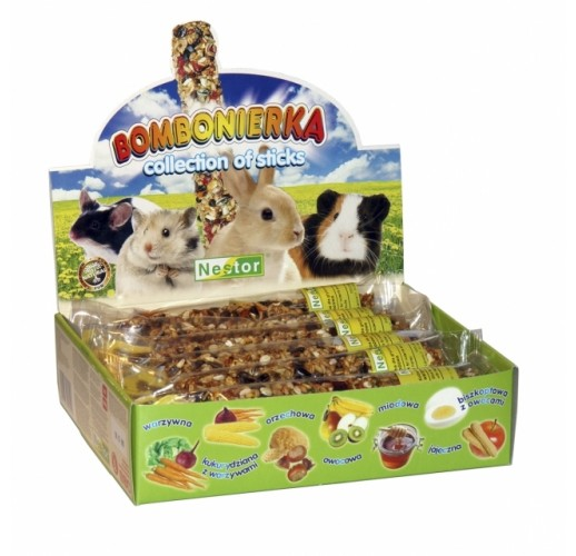BONBONNIERE FOR RODENTS AND RABBITS - COLLECTION OF STICKS 206 Nestor