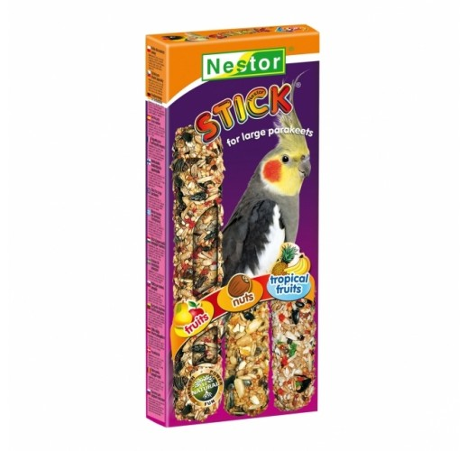 "STICKS ""3 IN 1"" FOR LARGE PARAKEETS FRUITS, NUTS AND TROPICAL FRUITS 046 Nestor"